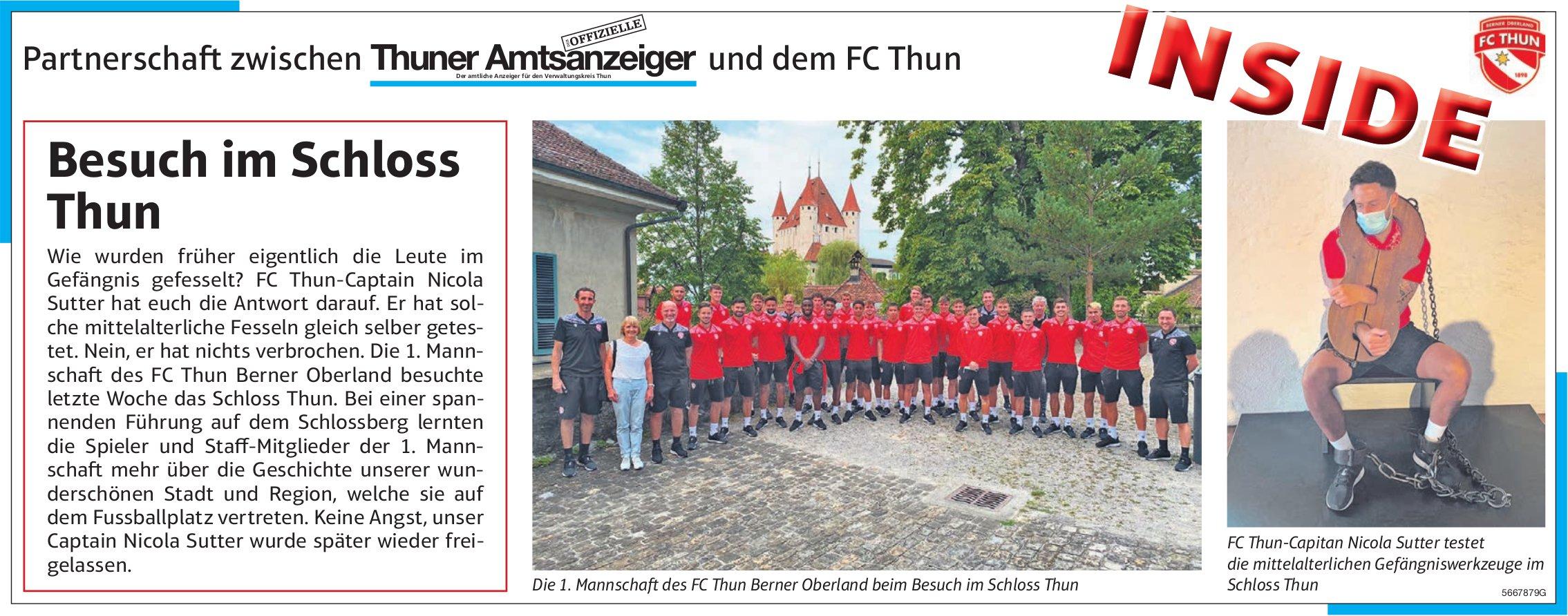 Thuner Amtsanzeiger und FC Thun: Inside - Besuch im Schloss Thun