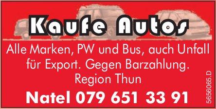 Thun - Kaufe Autos: Alle Marken, PW und Bus,  auch Unfall für Export.