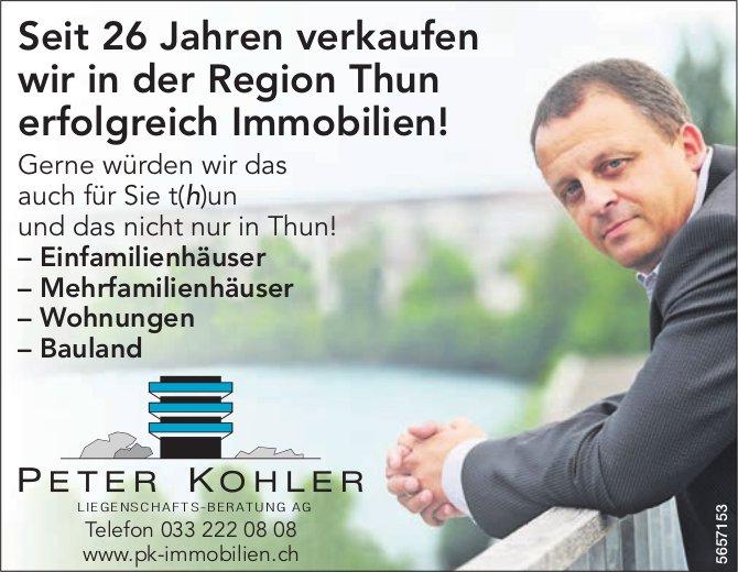 Seit 26 Jahren verkaufen wir in der Region Thun erfolgreich Immobilien! Peter Kohler