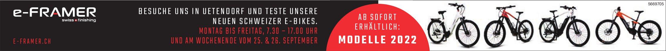 E-Framer, Uetendorf - Ab sofort erhältlich: Modelle 2022