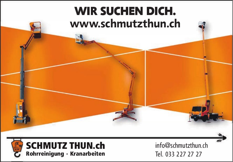 Schmutz Thun.ch - Wir suchen Dich.