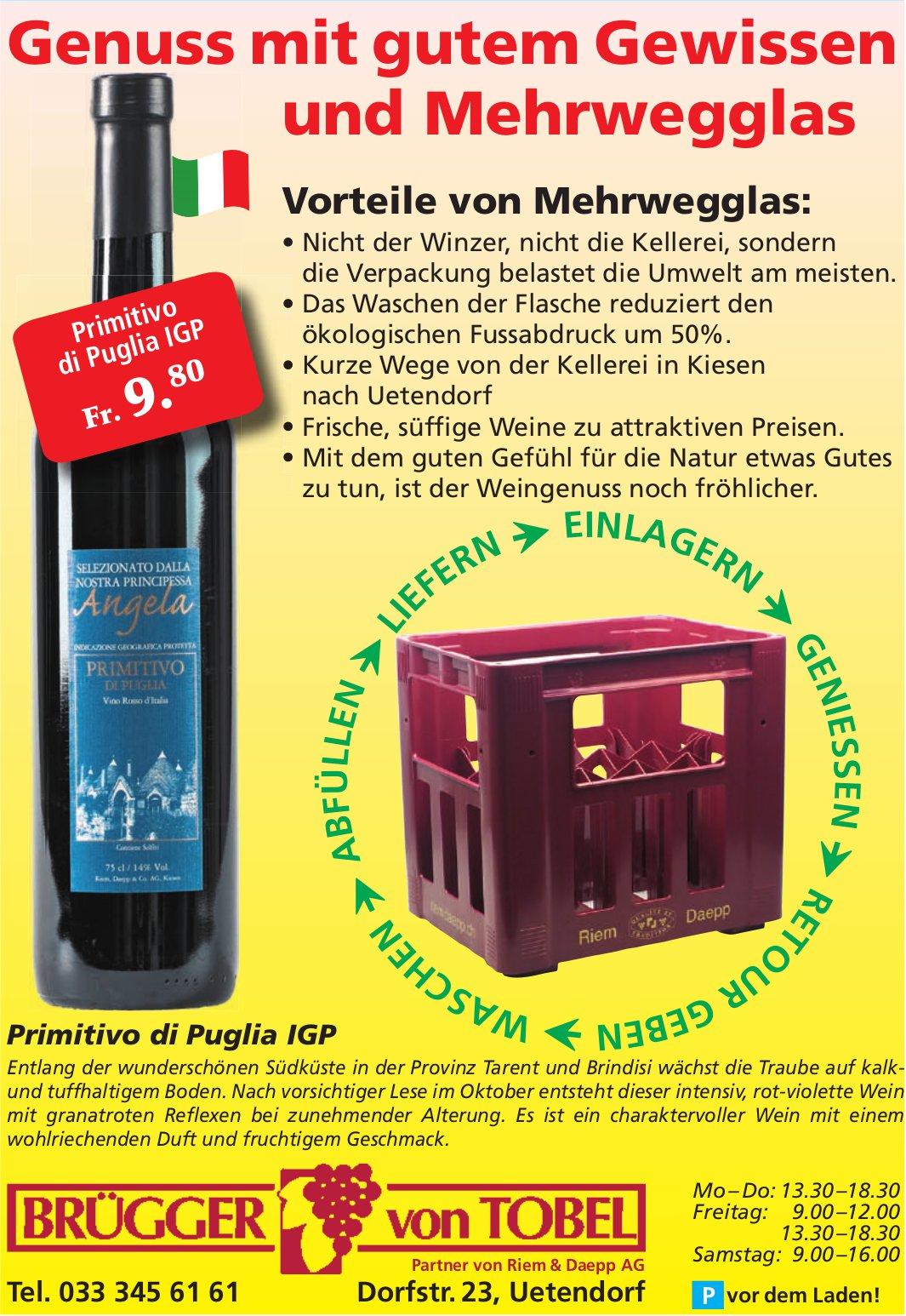 Brugger von Tobel, Uetendorf - Genuss mit gutem Gewissen und Mehrwegglas