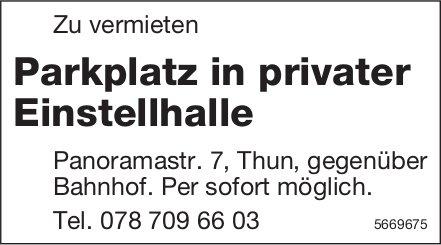 Parkplatz in privater Einstellhalle, Thun, zu vermieten
