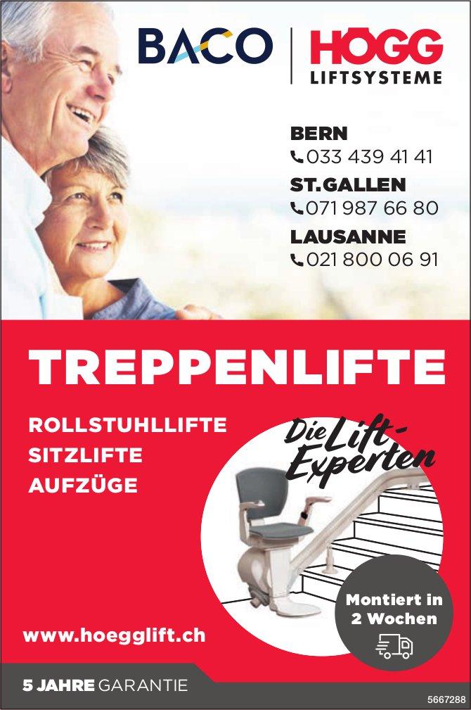 Högg Liftsysteme, Bern, St. Gallen & Lausanne - Treppenlifte, Rollstuhllifte, Sitzlifte & Aufzüge