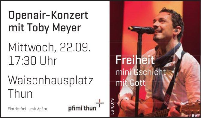Pfimi Thun - Openair-Konzert mit Toby Meyer, 22. September, Thun