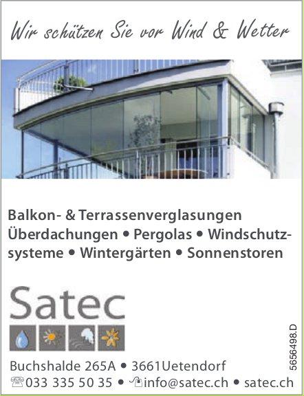 Satec, Uetendorf - Wir schützen Sie vor Wind & Wetter