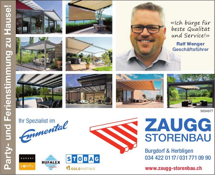 Zaugg Storenbau, Burgdorf & Herbligen - Party- und Ferienstimmung zu Hause!