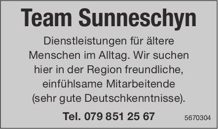 Freundliche, einfühlsame Mitarbeitende, Team Sunneschyn, in der Region,  gesucht