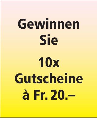 Brügger von Tobel - Gewinnen Sie 10x Gutscheine à Fr. 20.–