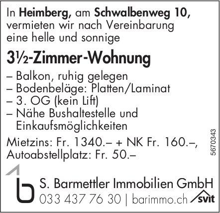 3½-Zimmer-Wohnung, Heimberg, zu vermieten