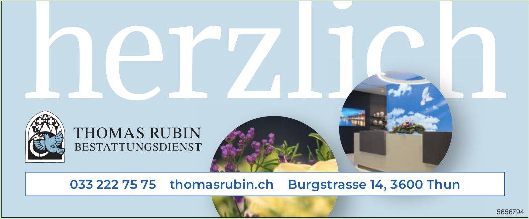 Bestattungsdienst Thomas Rubin, Thun - herzlich