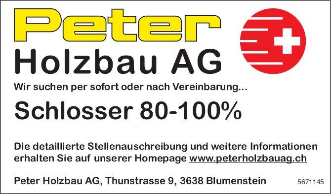 Schlosser 80-100%, Peter Holzbau AG, Blumenstein, gesucht