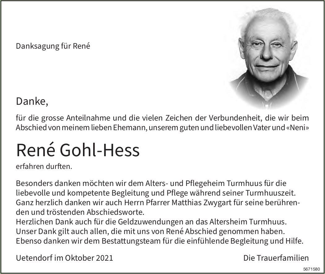 Gohl-Hess René, im Oktober 2021 / DS