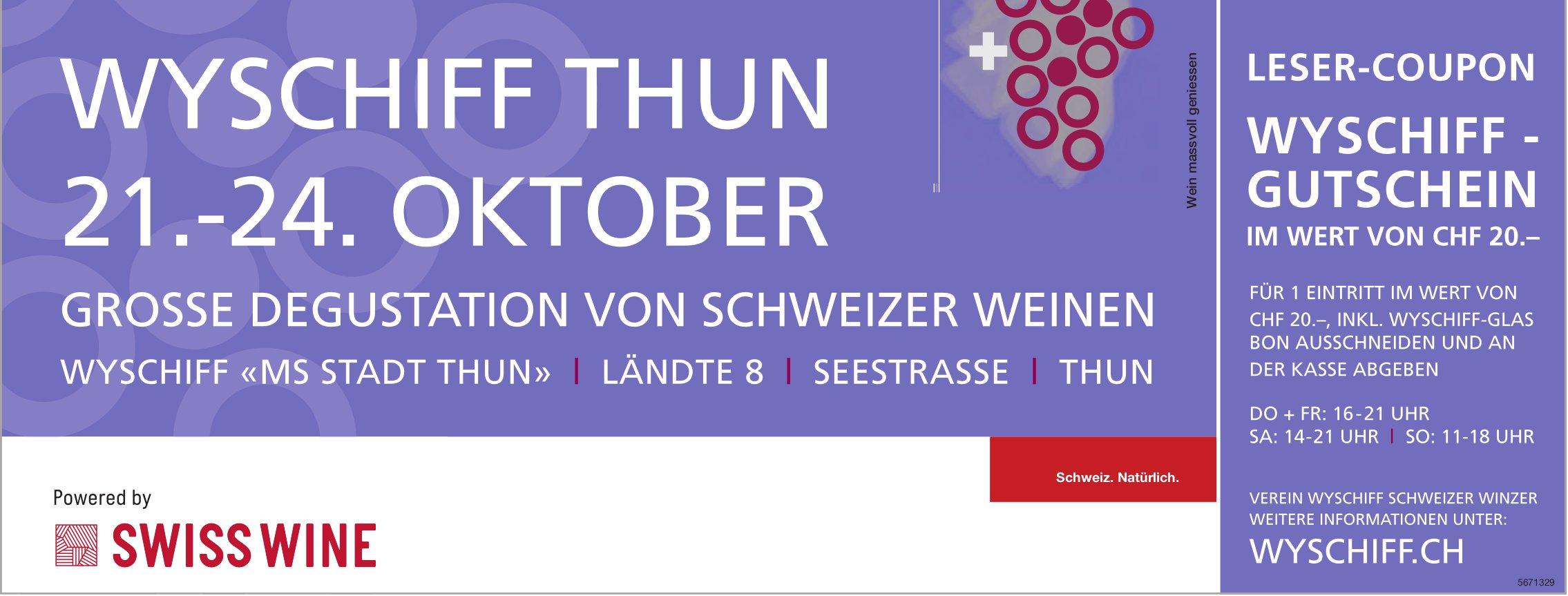 Wyschiff Thun, 21.-27. Oktober
