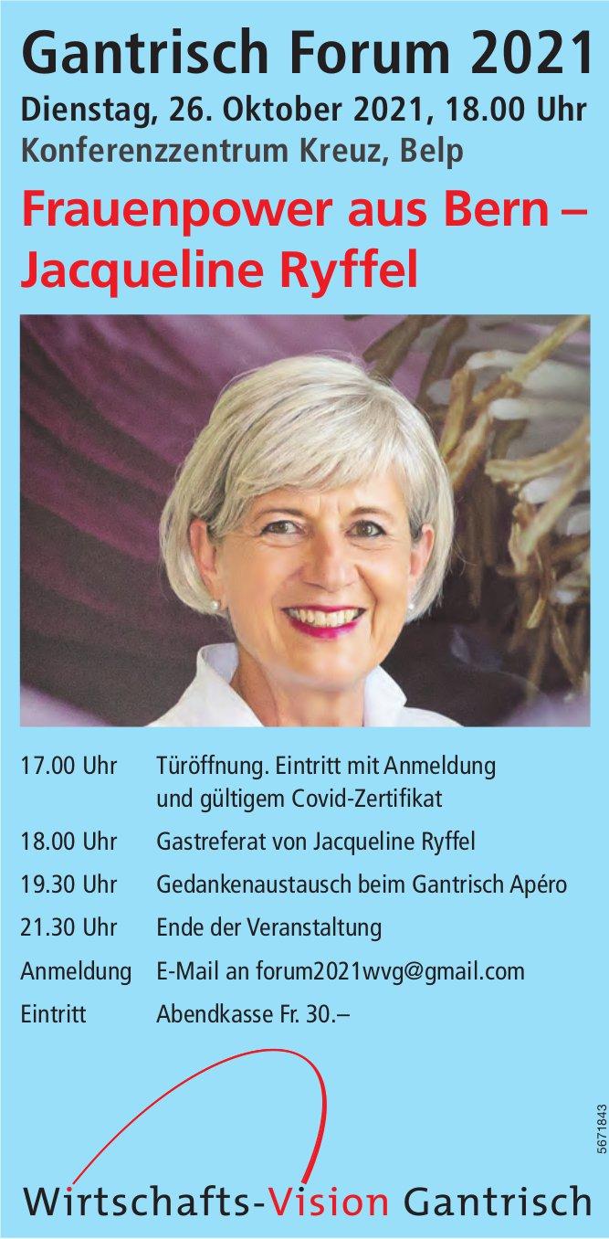 Gantrisch Forum 2021, 26. Oktober, Konferenzzentrum Kreuz, Belp