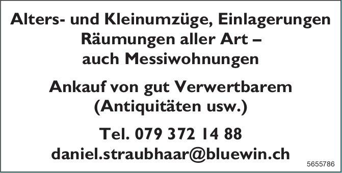 Daniel Straubhaar - Alters- und Kleinumzüge, Einlagerungen, Räumungen aller Art – auch Messiwohnungen