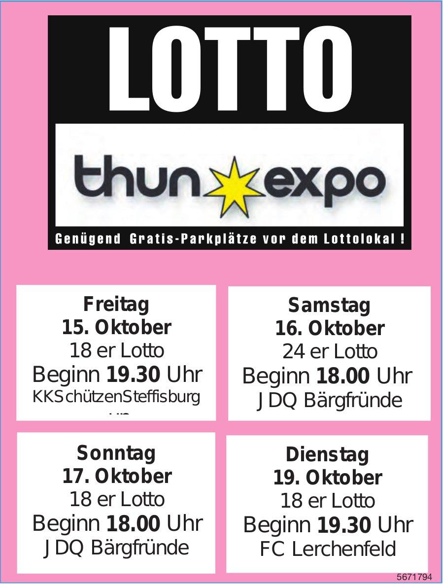 LOTTO Thun Expo, 15./16./17./19. Oktober