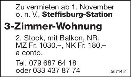 3-Zimmer-Wohnung, Steffisburg-Station, zu vermieten