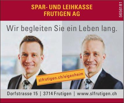 Spar- und Leihkasse Frutigen AG - Wir begleiten Sie ein Leben lang.