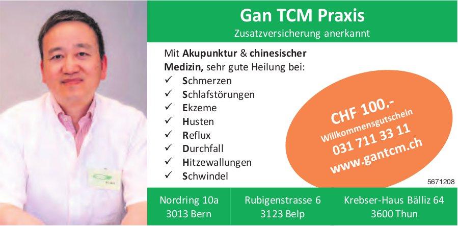 Gan TCM Praxis, Bern, Belp und Thun - Mit Akupunktur & chinesischer Medizin...