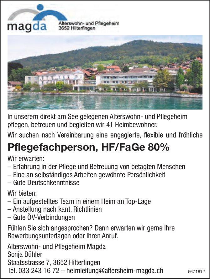 Pflegefachperson, HF/FaGe 80%, Alterswohn- und Pflegeheim Magda, Hilterfingen,  gesucht