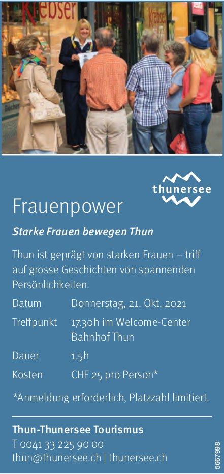 Thun-Thunersee Tourismus - Frauenpower: Starke Frauen bewegen Thun, 21. Oktober
