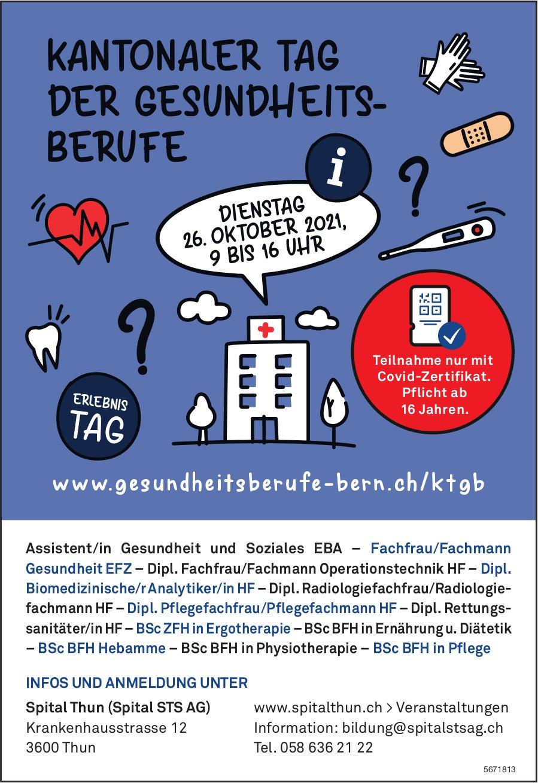 Kantonaler Tag der Gesundheits-Berufe, Spital STS AG, 26. Oktober, Thun