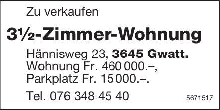 3½-Zimmer-Wohnung, Gwatt, zu verkaufen