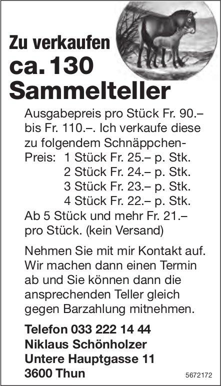 Niklaus Schönholzer, Thun - ca. 130 Sammelteller zu verkaufen