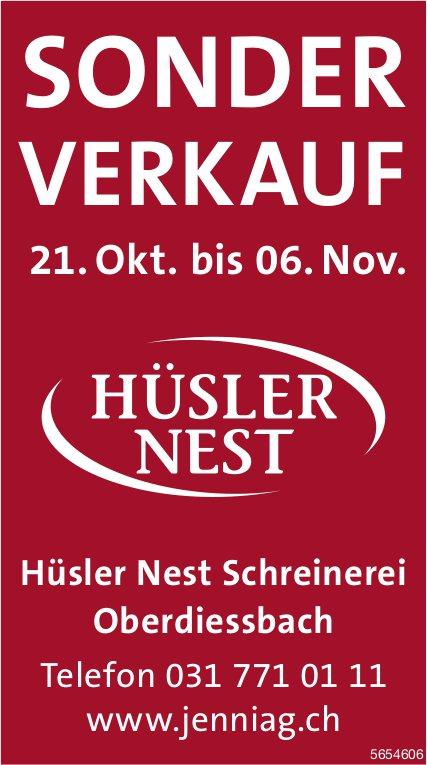 Sonder-Verkauf, 21. Oktober - 6. November, Hüsler Nest Schreinerei, Oberdiessbach