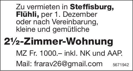 2½-Zimmer-Wohnung, Steffisburg, Flühli,  zu vermieten
