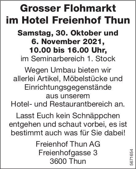 Grosser Flohmarkt im Hotel Freienhof, 6. November, Thun