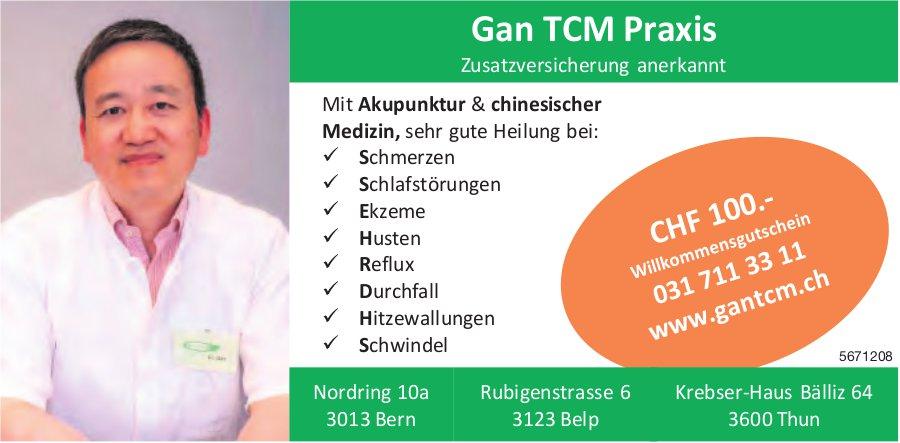 Gan TCM Praxis, Bern, Belp & Thun - Mit Akupunktur & chinesischer Medizin, sehr gute Heilung bei...