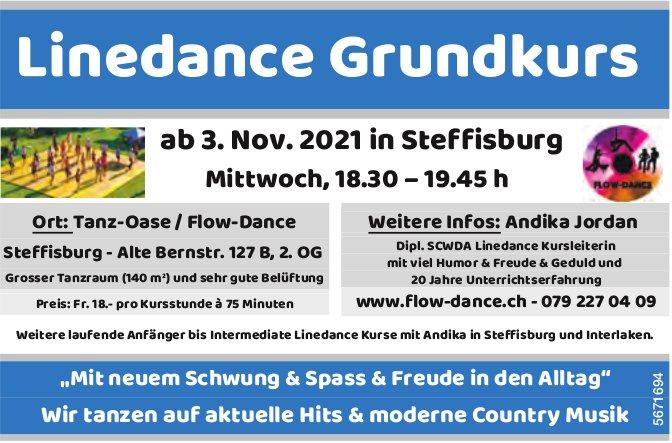 Linedance Grundkurs ab 3. November, Tanz-Oase/Flow-Dance, Steffisburg