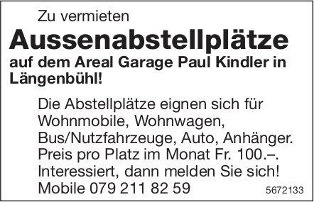 Aussenabstellplätze auf dem Areal Garage Paul Kindler in Längenbühl!, zu vermieten