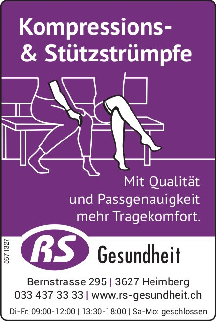 RS Gesundheit, Heimberg - Kompressions- & Stützstrümpfe