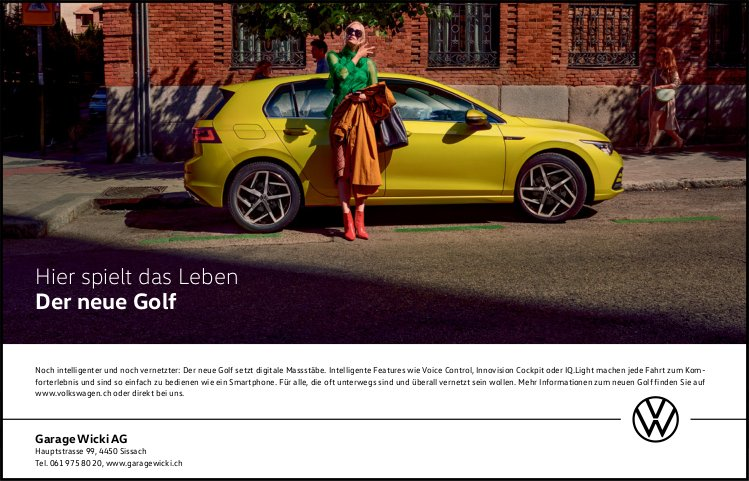 Garage Wicki AG,  Sissach-Der neue Golf