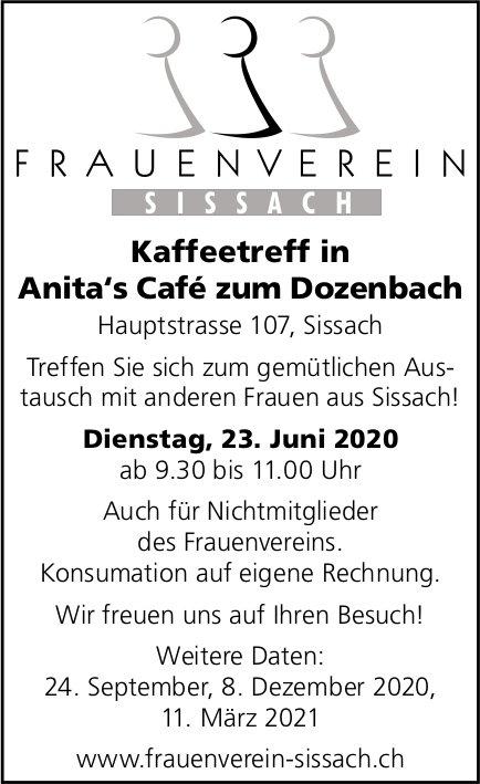 Kaffeetreff in Anita's Café zum Dozenbach am 23. Juni