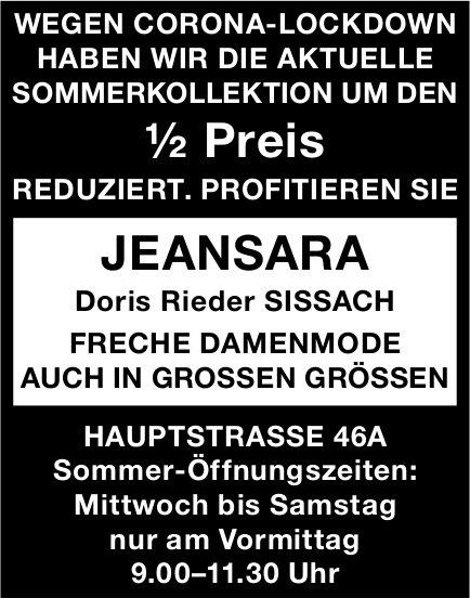 Jeansara, Sissach - ½ Preis