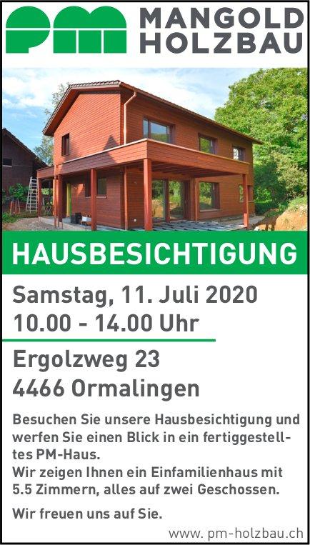 Hausbesichtigung am 11. Juli, PM Mangold Holzbau, Ormalingen,
