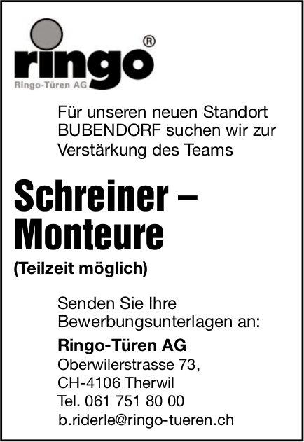 Schreiner – Monteure gesucht