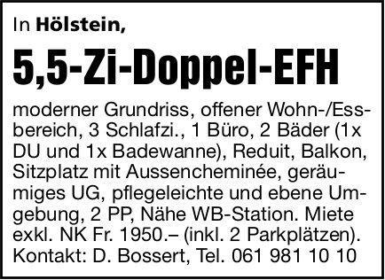 5,5-Zi-Doppel-EFH, Hölstein,  zu vermieten