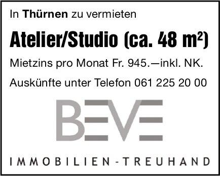 Atelier/Studio (ca. 48m2), Thürnen, zu vermieten