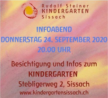 Infoabend, 24. September, Rudolf Steiner Kindergarten, Sissach