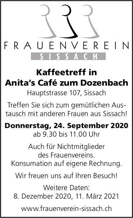 Kaffeetreff, 24. September, Anita's Café zum Dozenbach, Sissach