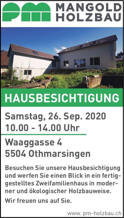 Hausbesichtigung, 26. September, PM Mangold Holzbau, Othmarsingen