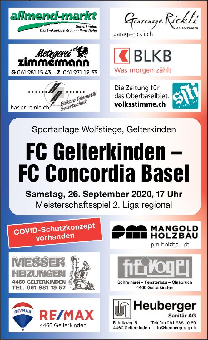 FC Gelterkinden - FC Concordia Basel, 26. September, Sportanlage Wolfstiege, Gelterkinden