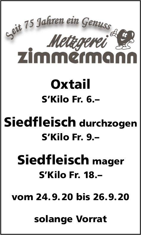 Metzgerei Zimmermann, Oxtail und Siedfleisch