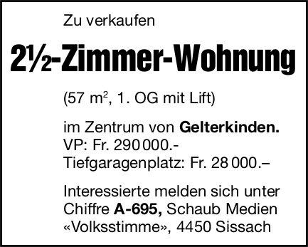 2½-Zimmer-Wohnung, Sissach, zu verkaufen