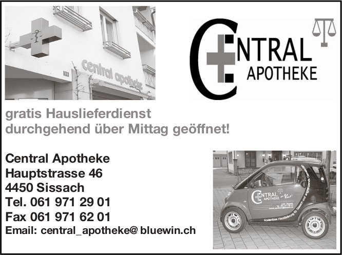 Central Apotheke, Sissach - gratis Hauslieferdienst